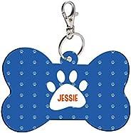 Sky Trends Bone Shape Collar Locket/Pendant for Dogs & Puppy -647, Multicolour, Medium, 1 Count - Je