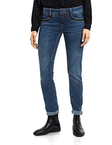 Street One Damen 371810 Jane Slim Jeans, Blau (Brilliant Blue wash 11652), W32/L30 (Herstellergröße: 32) -