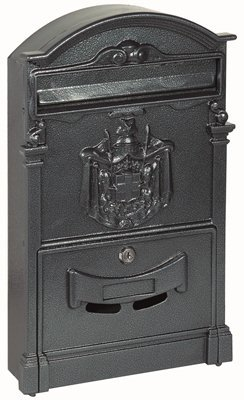 Cassetta postale per esterno e interno royal colore ghisa 25,5x41x8,3cm
