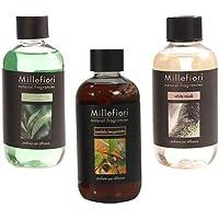 Millefiori Milano Set 3x Raumdüft Diffusoren Refills 250 ml Green tea, Sandalo bergamotto, White musk preisvergleich bei billige-tabletten.eu