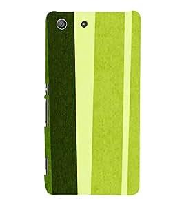 Fiobs Designer Phone Back Case Cover Sony Xperia M5 Dual :: Sony Xperia M5 E5633 E5643 E5663 ( Green Pattern Design Stick )