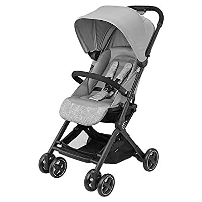 XIUSE&LEO Folding Baby Stroller with Safe 5-Point Harness And Brake, Lightweight Folding Buggy Up Kid Pram, Adjustable Backrest, 360 Degree Swivel Wheels, Gray