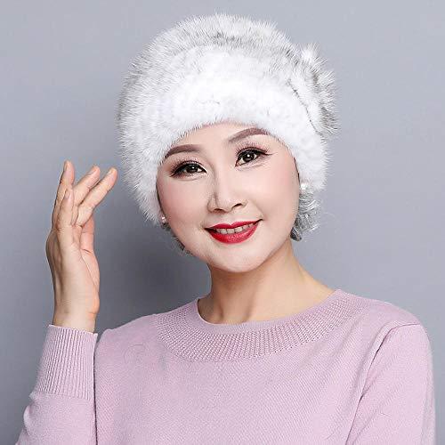 Beanie Stars Skull Cap für Männer Frauen, Frau.Winter aus dicken Double-Layer-Hut, warme Pelzmütze-Cross, warme Oversized Beanie Hat -