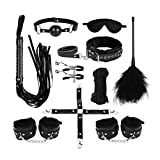 10-Piece Sex Restraint Belt Bedroom Nylon Handcuffs Ankle Cuffs Body Fixation Wrist Lashing Strap Set for Activities in Bed Very Pasional Eye Mask for Blindfold
