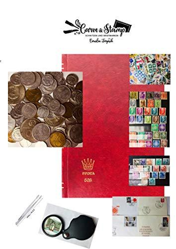Gebraucht, carve-stamp Briefmarkenalben rot A6 Münzen und Briefmarken gebraucht kaufen  Wird an jeden Ort in Deutschland