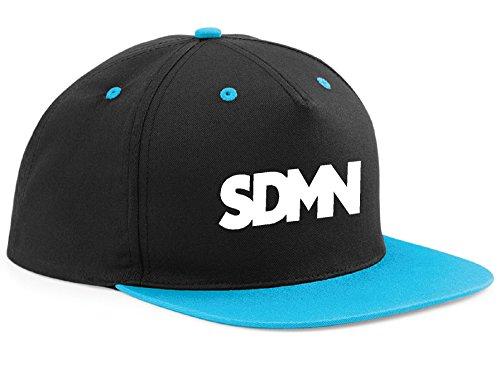 sdmn-hat-cap-youtube-vg-viral-youtuber-rapper-snapback-tdm-black-blue-peak