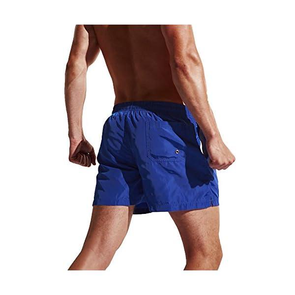 Okany Uomo Costumi da Bagno Leisure Travel Short Pantaloncini da Surfe 3 spesavip
