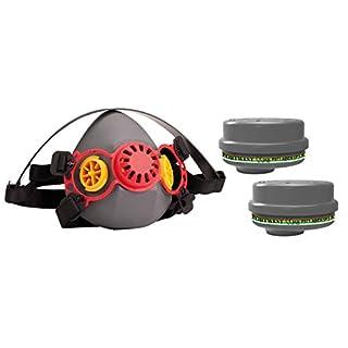 Premium Coque en Caoutchouc de Silicone PPE Demi Masque respiratoire et Lot de 4x ABEK1P3industriels au gaz et Particules Anti-Poussière Combinaison Cartouches kit de Filtre