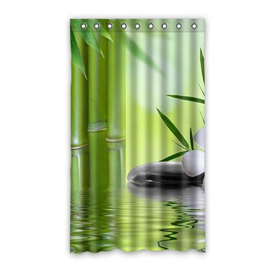 Dalliy coutume Bamboo Green Rideaux Window Curtain De Polyester 50