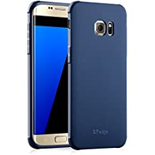 Coque pour Samsung Galaxy S7 Edge,CaseFashion Housse Etui Ultra Mince Silicone Souple Protection Anti Chocs Back Cover Anti Scratch Shock Absorption- Sapphire Blue