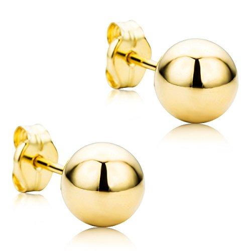 Orovi Ohrringe Damen Ohrstecker Kugel Gelbgold 9 Karat/375 Gold (375 Kugel)