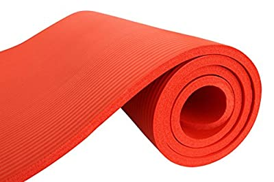 Nivia NBR Yoga Mat 12MM,Red