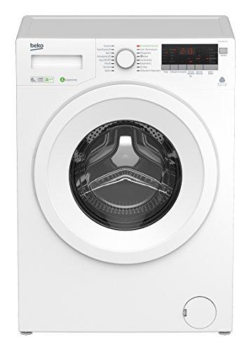 Beko WYA 61483 PTLE Waschmaschine FL / A+++ / 144 kWh/Jahr / 1400 UpM / 6 kg / Multifunktionsdisplay / weiß / Brushless-DC-Motortechnologie / Baby Protect Waschen - speziell für Babykleidung und Allergiker / Mengenautomatik / Watersafe / 15 Programme