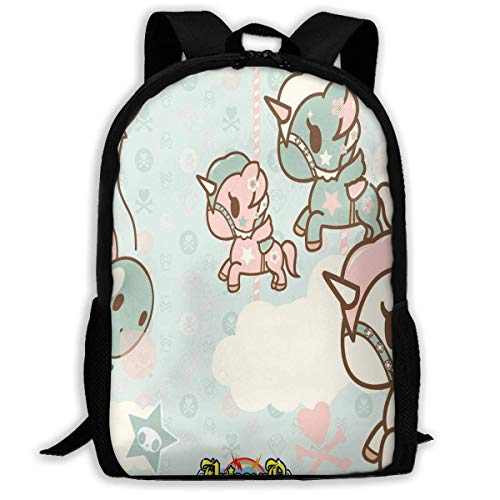 TTmom Zaini/Zaino Casual,Borse a Zainetto, Backpack Tokidoki Zipper School Bookbag Daypack Travel Rucksack Gym Bag For Man Women