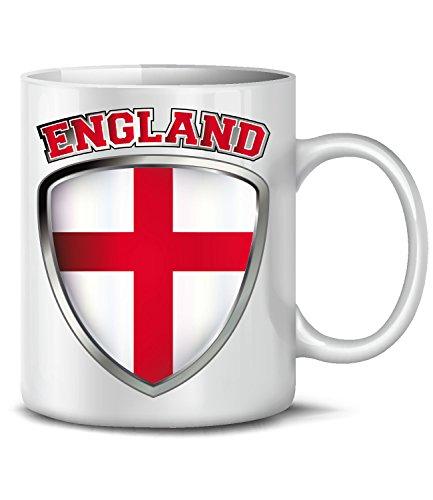 Artikel 4725 Fuss Ball Welt Europa Meisterschaft EM 2020 WM 2022 Kaffee Tasse Becher Geschenk Ideen Fahne Flagge Team Weiss ()