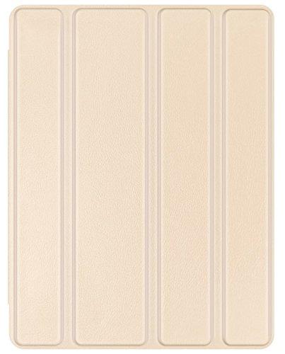 JETech Hülle für Apple iPad 4 iPad 3 iPad 2, Schutzhülle mit Durchschaubar Rückseite und Auto Schlaf/Wachen, Gold