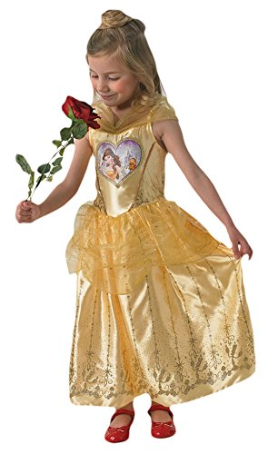 Schöne Die Kostüme Und Das Halloween Biest (Halloweenia - Mädchen Karneval Kostüm Kleid Love Hearts Belle, Gelb, Größe 110-116, 5-6)