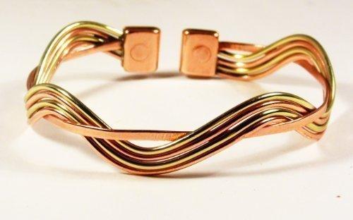 magnetic-copper-brass-wave-bracelet-mcb076