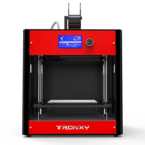 TRONXY C5 3D Printer Assembled All-in-One Desktop 3D Maker, Support multi-filament FDM Professional 3D Printers, Max Printing Size: 210 * 210 * 210mm (Red)