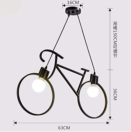 Pendelleuchte Kronleuchter Vintage Retro Fahrradbekleidung Eisen Industrial Air Kreative Nordic Schwarz 63 * 36 Cm Restaurant Dekoration