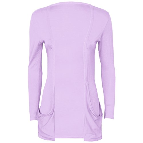 Runway Splash - Cardigan Pour Femme Manches Longues 2 Poches Lilas