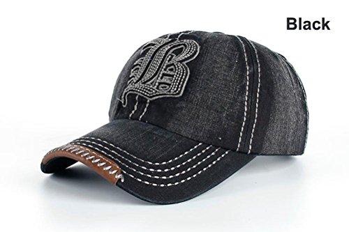 Funny hat Printemps Automne Unisexe Loisirs Simplicité Coton réglable Broderie Baseball/Casual Outdoor Sport Sanpback Jeans Casquette avec Broderie Le