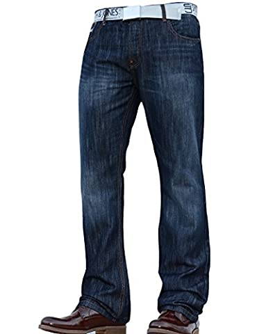 New Mens Smith and Jones Bootcut Wide Bottom Hardwearing Fashion