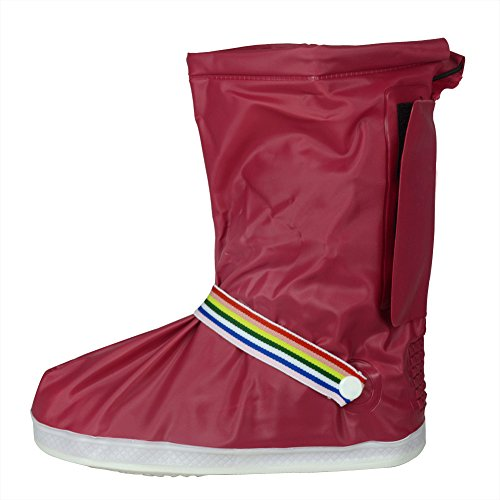 thicken-sole-red-xl-new-design-reusable-waterproof-women-girls-shoes-boots-cover