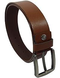 Devil Men's 100% Genuine Leather Belt (Brown)
