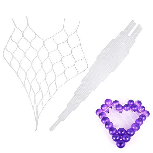 Chris.W 2 Stück Herzförmige Luftballon-Gitter Rahmen Luftballons Netz Halter Zubehör für Auto Geburtstag Hochzeit Party Dekoration Supplies (In Supplies Party Autos)