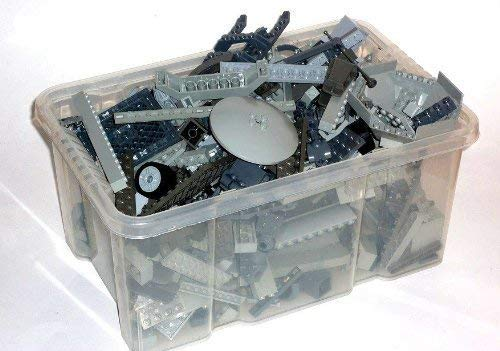 LEGO 1 kg graue LEGO Steine ca.700 Teile Kiloware, Platten, Star Wars (Lego Star Wars Steine)