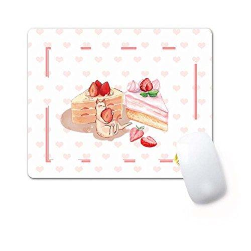 Rechteck rutschfeste Gummi Gaming Mouse Pad rosa Kuchen