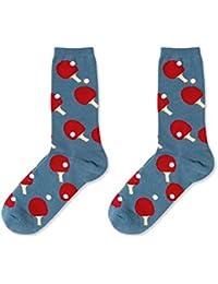 Gysad 1 par Calcetines hombres Diseño de tendencia Calcetines hombres divertidos Suave y comodo Calcetines media