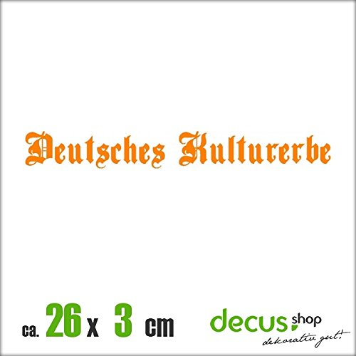 DEUTSCHES KULTURERBE XL 1671 // Sticker OEM JDM Style Aufkleber (Orange)
