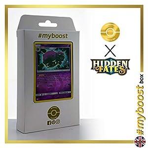 Weezing 29/68 Holo Reverse - #myboost X Sun & Moon 11.5 Hidden Fates - Box de 10 cartas Pokémon Inglesas