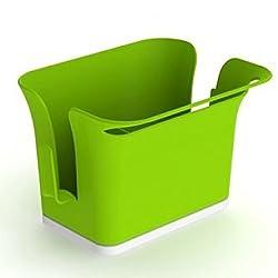 House of Quirk Kitchen Sink Storage Caddy for Dishwasher Liquid, Brush, Sponge etc. (GREEN)