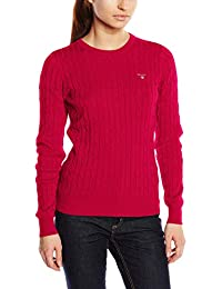 9228e1ed02c Gant Women s s Stretch Cotton Cable Crew Jumper