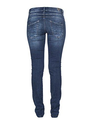M.O.D. Damen Jeans Ulla - Slim Fit - Blau - Treviso Blue Destroyed Treviso Blue Destroyed (2063)