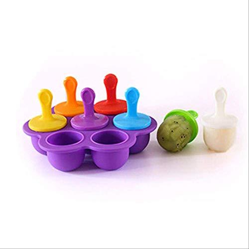 AFHYLW Silikon Mini Ice Pops Schimmel EIS Ball Lolly Maker EIS am Stiel Formen Nahrungsergänzungsmittel Werkzeug Obst Shake EIS Schimmel Deep Purple - Silikon-eis-kugel-schimmel