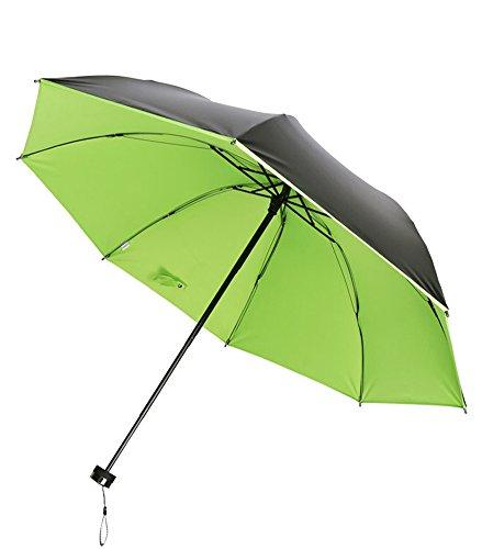 Honeystore Regenschirm, Automatik Taschenschirm Einfarbig UV-Schutz Sonnnenschirm (92 cm Durchmesser) Grün