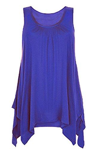 Bless - Débardeur - Uni - Sans Manche - Femme Bleu - Blau - Königsblau
