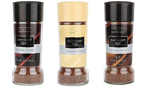 Davidoff Caf Rich Aroma, Fine Aroma & Espresso 57 Instant Coffee, 3 Jars Bundle 3.5oz/100g Each By Supreme World  available at amazon for Rs.1800