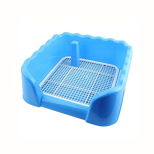 POPETPOP Puppy Potty Trainer, Lettiera per Cani, 45x42x15cm (Blu)