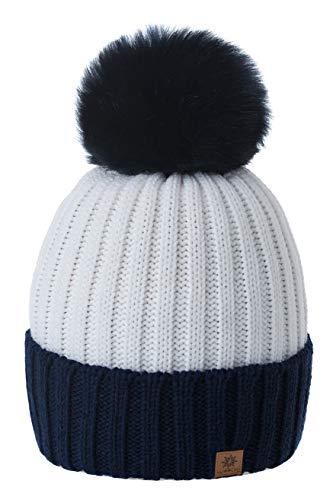 Romens Ltd Gorro Beanie De Invierno para Mujer Hombre Pompón de Estilo  Esquí y Snowboard ( 10995c844d2