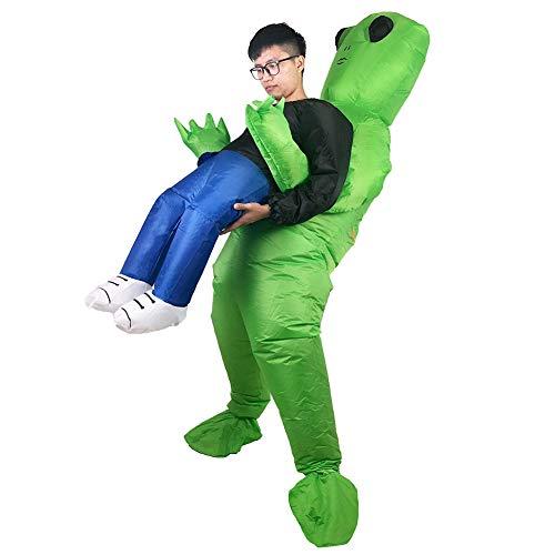 Deanyi Lustige Aliens aufblasbares Kostüm kreative Halloween Weihnachten Cosplay Karneval Partei-Leistungs-Kleidung für Erwachsene ohne (Alien Halloween Kostüme Für Erwachsene)