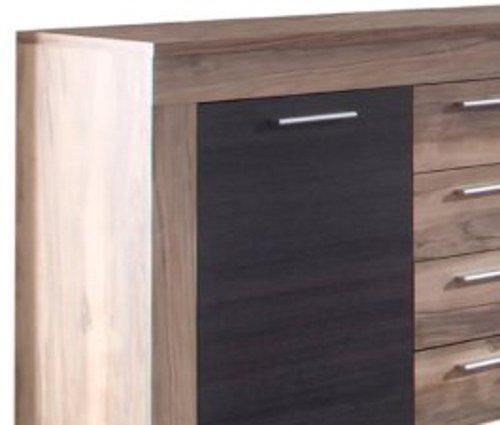 trendteam BM Sideboard Wohnzimmerschrank Kommode | Nussbaum Satin | 176 x 79 cm - 6