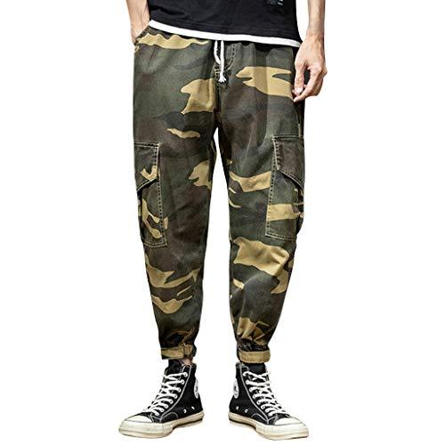 Marvvola Herren Camo Cargo Shorts Freizeit Militär Hose Flexibilität Atmungsaktiv Herren Lang Hose,Haltbar Einfach Classic Herren Jogginghose - Classic Distressed Jeans
