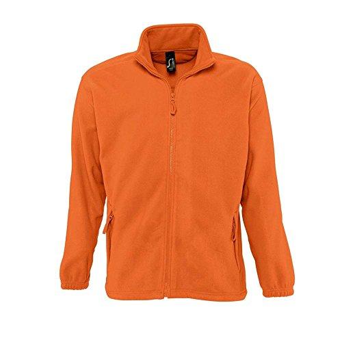 Sols - Fleecejacke 'North' bis Größe 5XL Orange