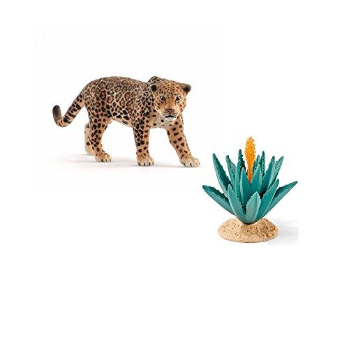 Schleich Spiel-Figuren-Set Wild Live Jaguar 14769 mit Agave 42243