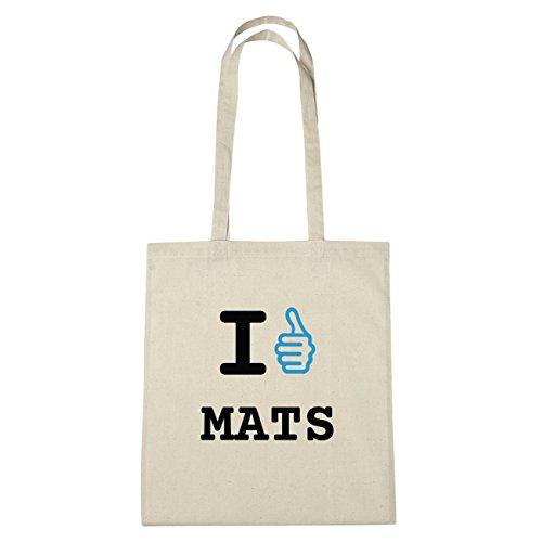 JOllify MATS Umwelttasche Jutetasche B5738jute - Farbe: natur: I like - Ich mag (Mat Mag)